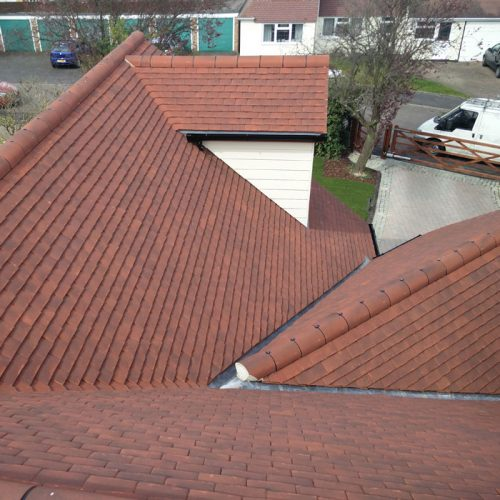 New Pitched Roof With Red Terracotta Tiles